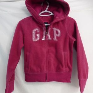 GAP size large girls size 10 fleece zip hoodie